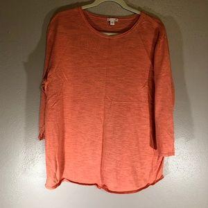 J Jill XL Salmon Light Sweater